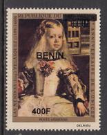 2009 Benin Art Paintings Velasquez UNICEF   400F Overprint Y&T 1184 MNH **DIFFICULT** - Altri