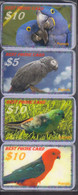PARROTS Perroquets Papageien 8 USED Phonecards, Telefonkarten, Tarjeta Telefónica, Carte De Téléphone - Pappagalli