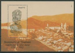 Brasilien 1992 Freiheitskämpfer Tiradentes Block 89 Postfrisch (C95607) - Blocks & Sheetlets