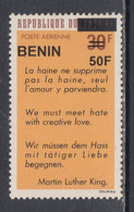 2005 Benin Martin Luther King MLK 50F Overprint Y&T Scott C561 MNH **DIFFICULT** - Benin – Dahomey (1960-...)