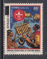2005 Benin Scouting Boy Scouts 50F Overprint Y&T Scott C569 MNH **DIFFICULT** - Nuovi