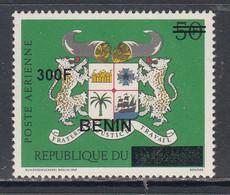2009 Benin Armoirie Coat Of Arms Leopards 300F Overprint Y&T 1114 Scott C596 MNH **DIFFICULT** - Benin – Dahomey (1960-...)
