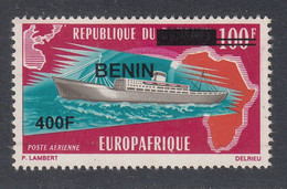 2009 Benin Ships Europafrique 400F Overprint Y&T 1179 Scott C630 MNH **DIFFICULT** - Benin – Dahomey (1960-...)