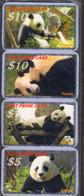 Panda CUTE Bears WWF 8 USED Phonecards, Telefonkarten, Tarjeta Telefónica, Carte De Téléphone - Giungla
