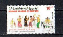 Timbre Oblitére De Mauritanie 1987 - Mauritania (1960-...)