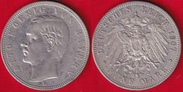 "Germany / Bavaria, Bayern 5 Mark 1907 D Km#915 AG ""Otto"" - 2, 3 & 5 Mark Silber"