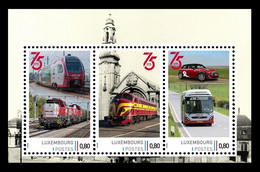 Luxembourg (Meng Post) 2021 No. 168/70 (Bl.1) Luxembourg National Railway Company. Locomotives. Automobile. Bus MNH ** - Ungebraucht