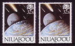 Niuafoou 1989 Comet - Specimen In Black + Specimen In Gold (scarce) - Details In Description - Oceania