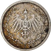 Monnaie, GERMANY - EMPIRE, 1/2 Mark, 1913, Stuttgart, SUP, Argent, KM:17 - 1/2 Mark