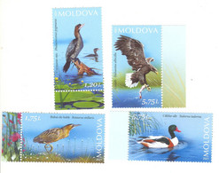 "2021,  Moldova  , Lower Prut ""Biosphere Reserve"" , Birds , Set Of 4v.,  MNH - Sin Clasificación"