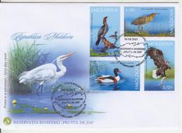 "2021,  Moldova  , Lower Prut ""Biosphere Reserve"" , Birds , FDC - Sin Clasificación"