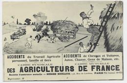 PASTEUR 15C PERFORE CSA PARIS 1925 BELLE CARTE CAISSE AGRICULTEURS DE FRANCE ACCIDENTS CHEVAUX AUTO CHASS CHEVAUX - Perforadas