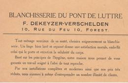 FOREST  BLANCHISSERIE DU PONT DE LUTTRE  DEKEYZER- VERSCHELDEN - 1950 - ...