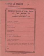 FOREST  DE PUITS ENTREPRISES GENERALES CARNET DE SALAIRE - 1950 - ...