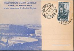 ITALY STADIO OLIMPIACO 1953 - 1946-60: Storia Postale