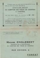 FOREST  MADAME ENGLEBERT  TOILES DE COURTRAI - 1950 - ...