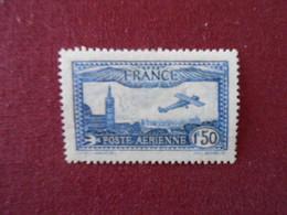 FRANCE YT PA 6 AVION SURVOLANT MARSEILLE 1,5f Bleu* - 1927-1959 Postfris