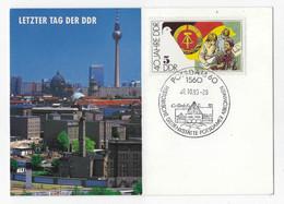ERSTTAGSBRIEFE  MOTIV NR  ETB18 VX    Letzter Tag Der DDR - FDC: Ersttagsblätter