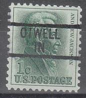 USA Precancel Vorausentwertungen Preos, Locals Indiana, Otwell 839 - Precancels