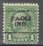 USA Precancel Vorausentwertungen Preos, Locals Indiana, Paola 632-701 - Vorausentwertungen