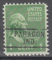 USA Precancel Vorausentwertungen Preos, Locals Indiana, Paragon 729 - Precancels