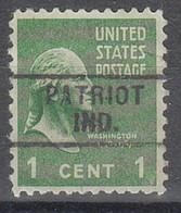 USA Precancel Vorausentwertungen Preos, Locals Indiana, Patriot 729 - Precancels