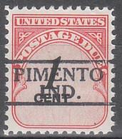 USA Precancel Vorausentwertungen Preos, Locals Indiana, Pimento 811 - Vorausentwertungen