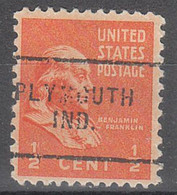 USA Precancel Vorausentwertungen Preos, Locals Indiana, Plymouth 703 - Vorausentwertungen