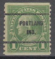 USA Precancel Vorausentwertungen Preos, Bureau Indiana, Portland 597-61 - Precancels