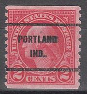 USA Precancel Vorausentwertungen Preos, Bureau Indiana, Portland 599-61 - Precancels