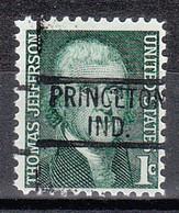 USA Precancel Vorausentwertungen Preos, Locals Indiana, Princeton 819 - Vorausentwertungen