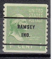 USA Precancel Vorausentwertungen Preos, Bureau Indiana, Ramsey 839-61 - Precancels