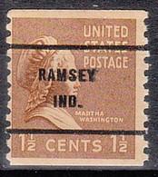 USA Precancel Vorausentwertungen Preos, Bureau Indiana, Ramsey 840-61 - Precancels