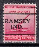 USA Precancel Vorausentwertungen Preos, Locals Indiana, Ramsey 701 - Precancels