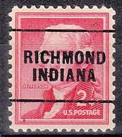 USA Precancel Vorausentwertungen Preos, Locals Indiana, Richmond 271 - Precancels
