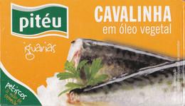 Portugal 2021 Pitéu Cavalinha Em Oleo Vegetal Caixa De Cartão Boîte Carton Little Mackerel - Unclassified