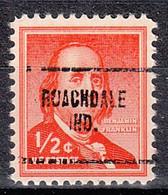 USA Precancel Vorausentwertungen Preos, Locals Indiana, Roachdale 704 - Vorausentwertungen