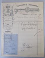 Facture Imprimerie & Lithographie Alexandre Berqueman à Bruxelles 4/11/1910 - Printing & Stationeries