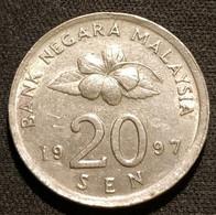 MALAISIE - 20 SEN 1997 - Agong - KM 52 - ( MALAYSIA ) - Malaysia