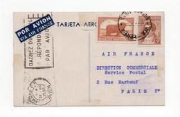 !!! ARGENTINE, CARTE AIR FRANCE PAR AVION DE BUENOS AIRES DU 31/12/1936 POUR PARIS - Covers & Documents