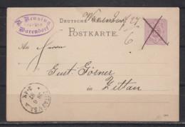 """Dt.Reich Handschriftliche Stationsaufgabe """" WARENDORF 27.6"""" Und Entwertung Auf P 12 Nach Zittau - Brieven En Documenten"""