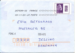 France Gien Marianne L'Engagée International Coil Cover Sent To Denmark 3-11-2020 - Covers & Documents