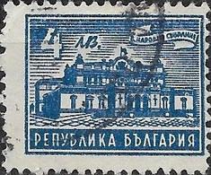 BULGARIA 1947 Parliament Building - 4l - Blue FU - Gebraucht