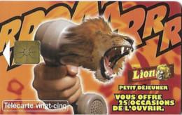 Télécarte Lion Petit Déjeuner, édition Limitée 5500 Exemplaires, Année 1997 - Pubblicitari