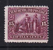 Newfoundland: 1911/16   Seal Of Newfoundland   SG127     15c      MH - 1908-1947
