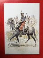 N°2893. ILLUSTRATION D'UN CHASSEUR D'AFRIQUE EN TENUE DE CAMPAGNE. 1886. CARTE RECLAME DE LA SOCIETE D'ARCHEOLOGIE - Uniformen