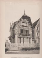 """Cabourg -villa """"Paulette """" Et Son Plan -superbe Gravure- - Architectuur"""