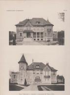 "Cabourg -villa ""Mon Geo"" Et Son Plan -superbe Gravure- - Architectuur"