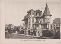 """Cabourg -villa """"Cadet Roussel"""" Et Son Plan -superbe Gravure- - Architectuur"""