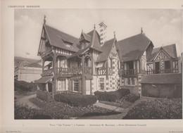 "Cabourg -villa ""Les Tamaris"" Et Son Plan -superbe Gravure- - Architectuur"